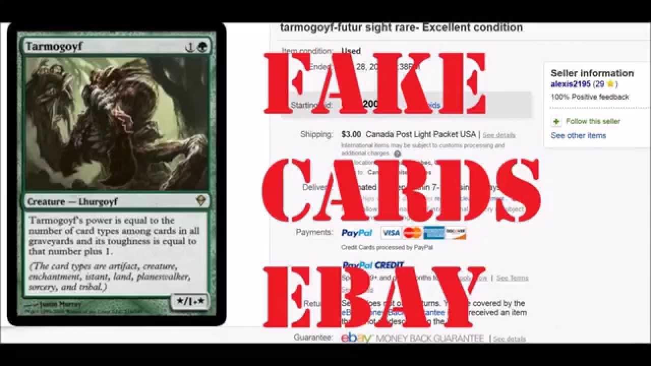 Fake tarmogoyf on ebay ebay youtube fake tarmogoyf on ebay ebay aloadofball Gallery