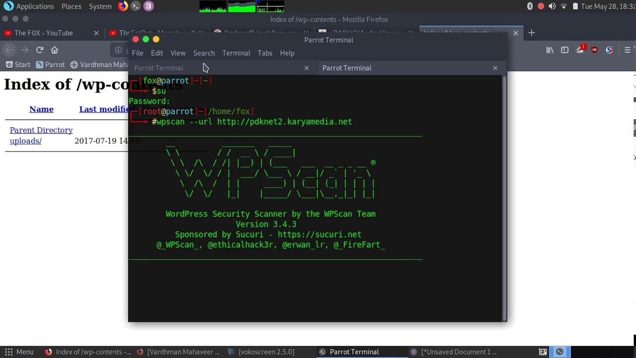 WpScan Scan for Vulnerabilities in Wordpress based Websites