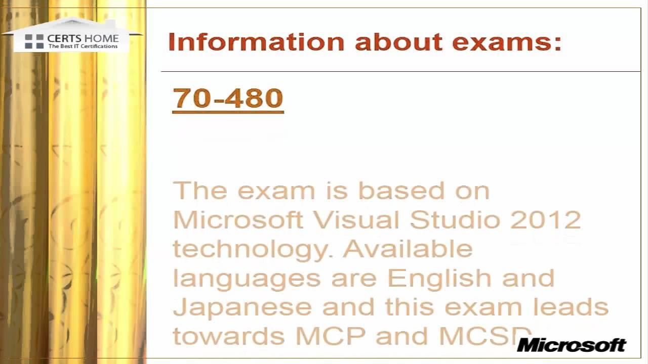 Microsoft 70 488 Certified Solutions Developer Exam Youtube