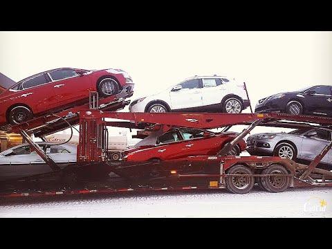Car Hauler Unload