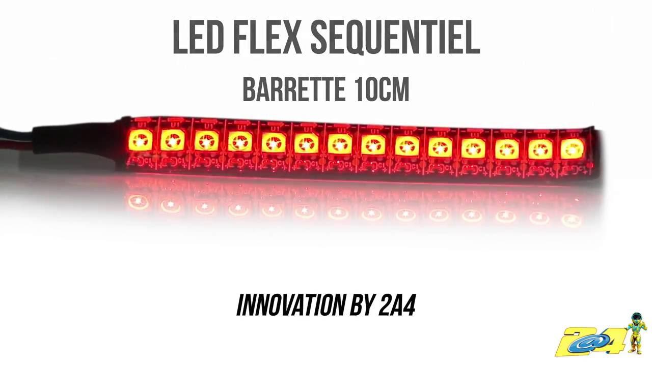 barrette 10cm led flex sequentiel by 2a4 youtube. Black Bedroom Furniture Sets. Home Design Ideas