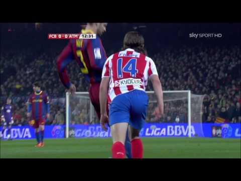 Barcelona VS Atletico Madrid  la liga 1080 HD 05-02-2011
