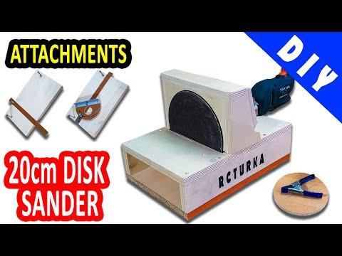 Disc Sander Homemade 20cm & Attachments - DIY
