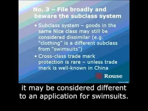 Trademark Fundamentals in China