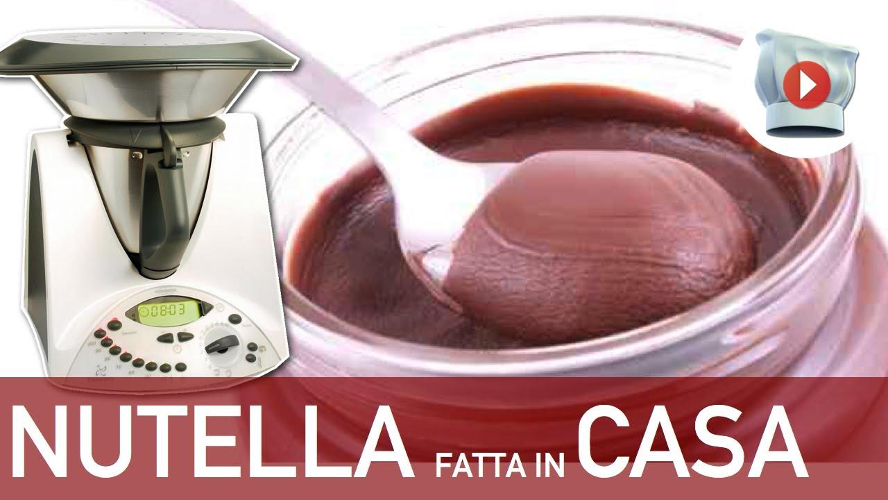 Ricetta Nutella Per Bimby.Nutella Bimby Ricetta Fatta In Casa Youtube