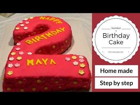 Number 2 - Birthday Cake Tutorial