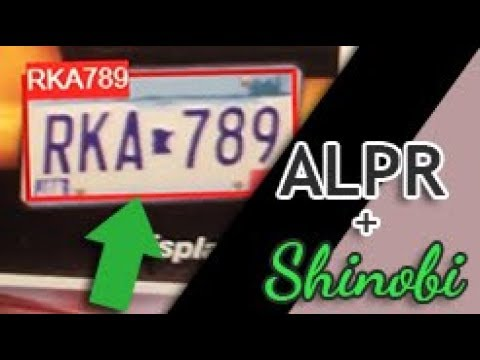 OpenALPR GUI License Plate Recognition Test with Shinobi