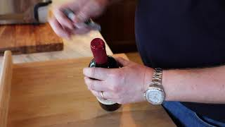 How to Open Wine With a Wine Cork Trick