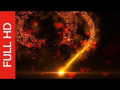 Animated Particles In Love Heart Shape for Valentine's Day