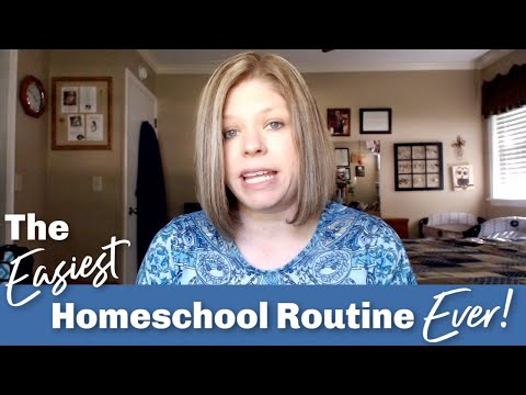 The Easiest Homeschool Routine Ever!  | Put Your Homeschool On AUTOPILOT!