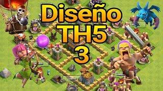 Diseño de Ayuntamiento nivel 5   Diseño 3   Difícil de destruir   2019   Clash of Clans