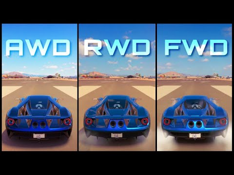 Forza Horizon  Awd Ford Gt Vs Rwd Ford Gt Vs Fwd Ford Gt