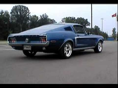 1968 Mustang Fastback Burnout  YouTube