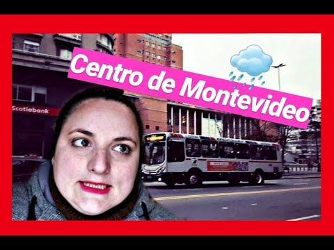 Paseo por el CENTRO de MONTEVIDEO!! (Y nos agarró la lluvia)