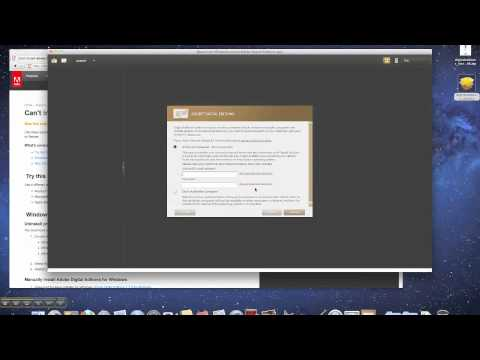 Install Adobe Digital Editions On A Mac (OS 10.4 Through OS 10.7)