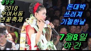 💗버드리 돈대박 쓰러져 기절한 날💗 7월8일 야간 2018 부여 서동 연꽃축제 초청공연