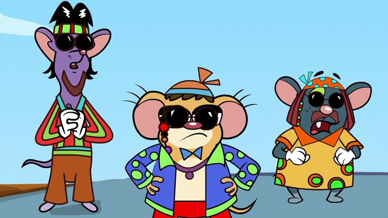rat hippie cartoons cartoon funny mice brothers