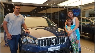 Taking Delivery of Maruti Suzuki S Cross Alpha|Nexa Blue|Process,Exterior and Interior Walkaround
