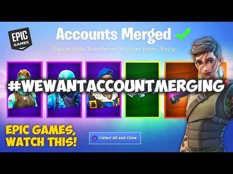 WE WANT ACCOUNT MERGING! (Fortnite Account Merging)