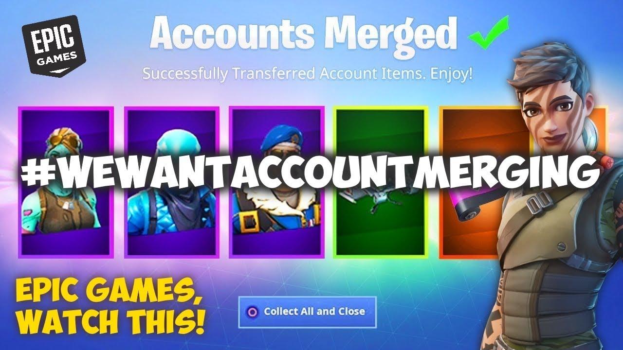 WE WANT ACCOUNT MERGING! (Fortnite Account Merging) - YouTube
