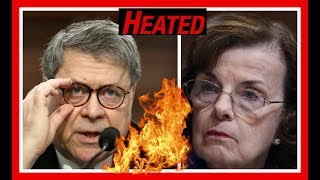 HEATED 🔴 Attorney General Barr Utterly DESTROYS Dianne Feinstein on ObamaCare Legality