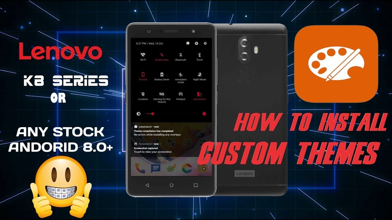 Custom Theme's Pack For Lenovo K8 Note or Plus | Stock Android | No Root |  No Paid (Prove here)