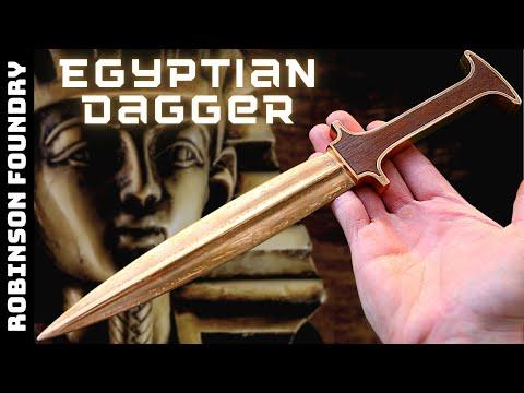 Casting an Egyptian Bronze Dagger│New Version