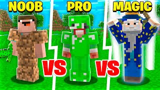NOOB vs PRO vs MAGIC MINECRAFT PLAYER!