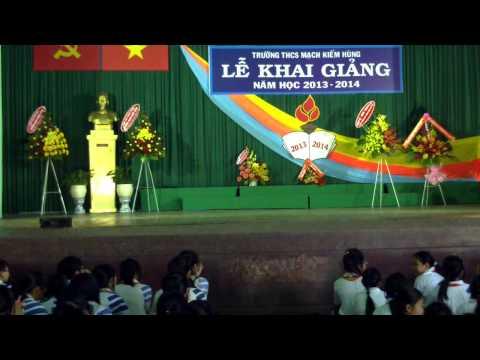 Văn Nghệ chào mừng lễ khai giảng trường THCS Mạch Kiếm Hùng 2013-2014
