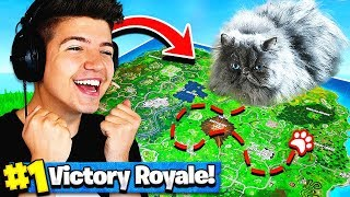 Using A CAT To WIN FORTNITE Battle Royale!