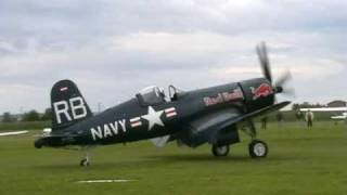 Chance Vought F4U-4 Corsair flown by Matthias Dolderer at Tannkosh 2009 thumbnail
