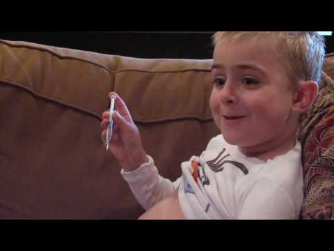 """""""Cam the Courageous"""" 6 years old-Teaching others how to give themselves a shot in their belly!!"""