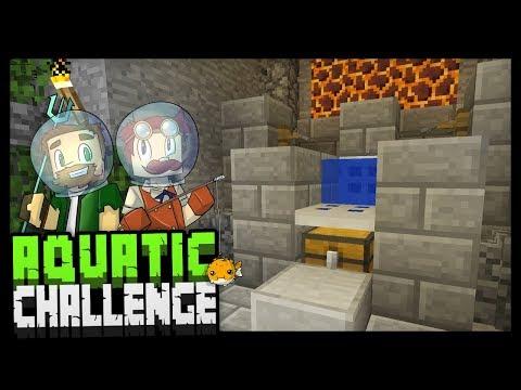 BUILDING A AFK FISH FARM!! - Minecraft Aquatic Challenge - #8