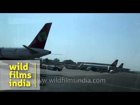 Kingfisher, Air India Planes Over The Runway, Delhi Airport