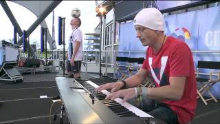 Jamie Knight at the Eithad - Manchester City vs Bayern Munich - Football Freestyle