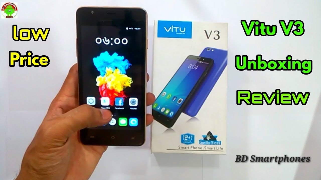Vitu V3 Smartphone Smart Life Unboxing Review Bangla