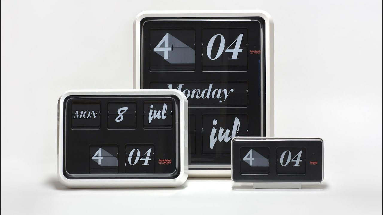 Font Clock by Sebastian Wrong for Established & Sons