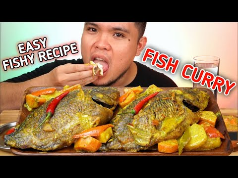 INDOOR COOKING | FISH CURRY | EASY FISHY RECIPE | Filipino Food Mukbang | Mukbang Philippines