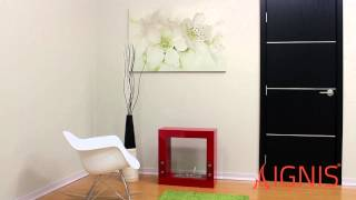 Tectum Mini Red- Ventless Ethanol Fireplace By Ignis