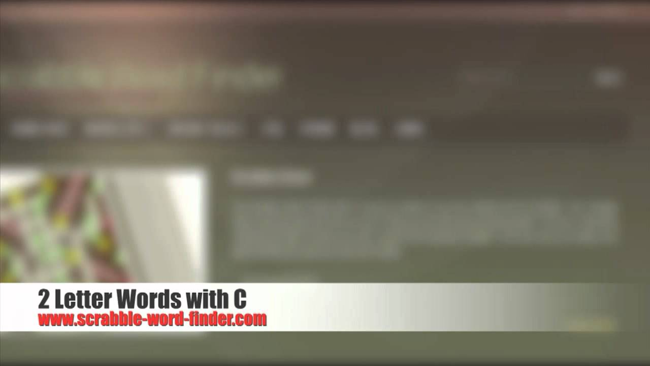 2 Letter Words With C Youtube