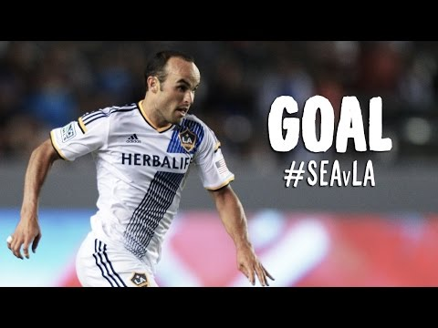 GOAL: Landon Donovan pounces on the rebound  | Seattle Sounders vs LA Galaxy - Major League Soccer  - aOJhR_SbQkA -