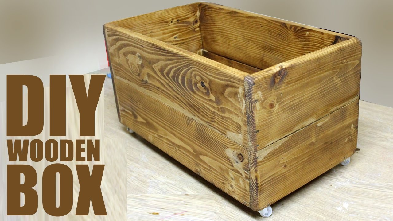 Diy Wooden Box Pallet Wood Project Youtube