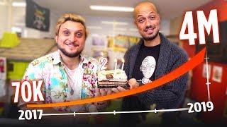 2 ANS SUR YOUTUBE : DE 70.000 à 4 MILLIONS D'ABONNÉS (+ grosse surprise !)