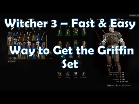 Witcher 3 - Fast & Easy Way to Get the Griffin Witcher Set