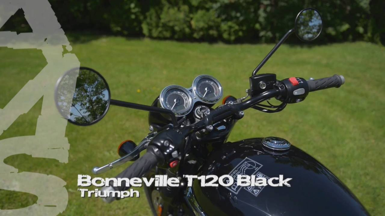 Triumph Bonneville T120 Black Ams Moto Youtube