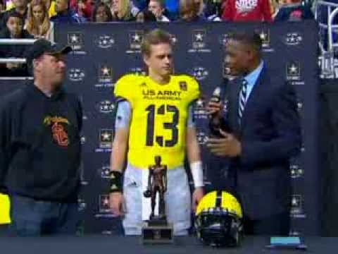 2013 Army Bowl | QB Max Browne, Player Of The Year