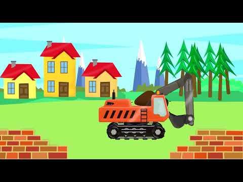 #Excavator & Tow Truck | Street Vehicles | Construction Machinery For Baby | Bajka #Koparka