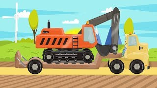 #Excavator & Tow Truck | Street Vehicles | Construction Machinery For Baby | Bajka #Koparka