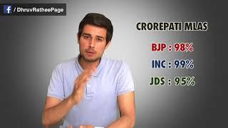 BJP vs Congress  Reality of Karnataka Results by Dhruv Rathee  Yedyurappa CM