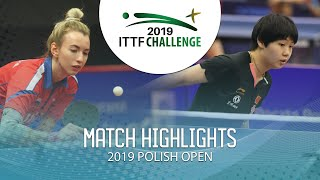 Мария Маланина vs Kuai Man | Polish Open 2019 (U21 R64)